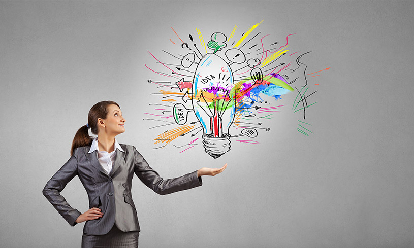 Innovative Businesswoman With An Idea