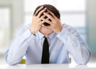Workplace Issues - Stressed Man