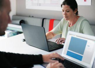 Employees using wi-fi network