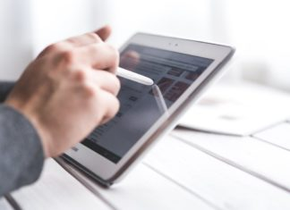 moving to a paperless office - tablet